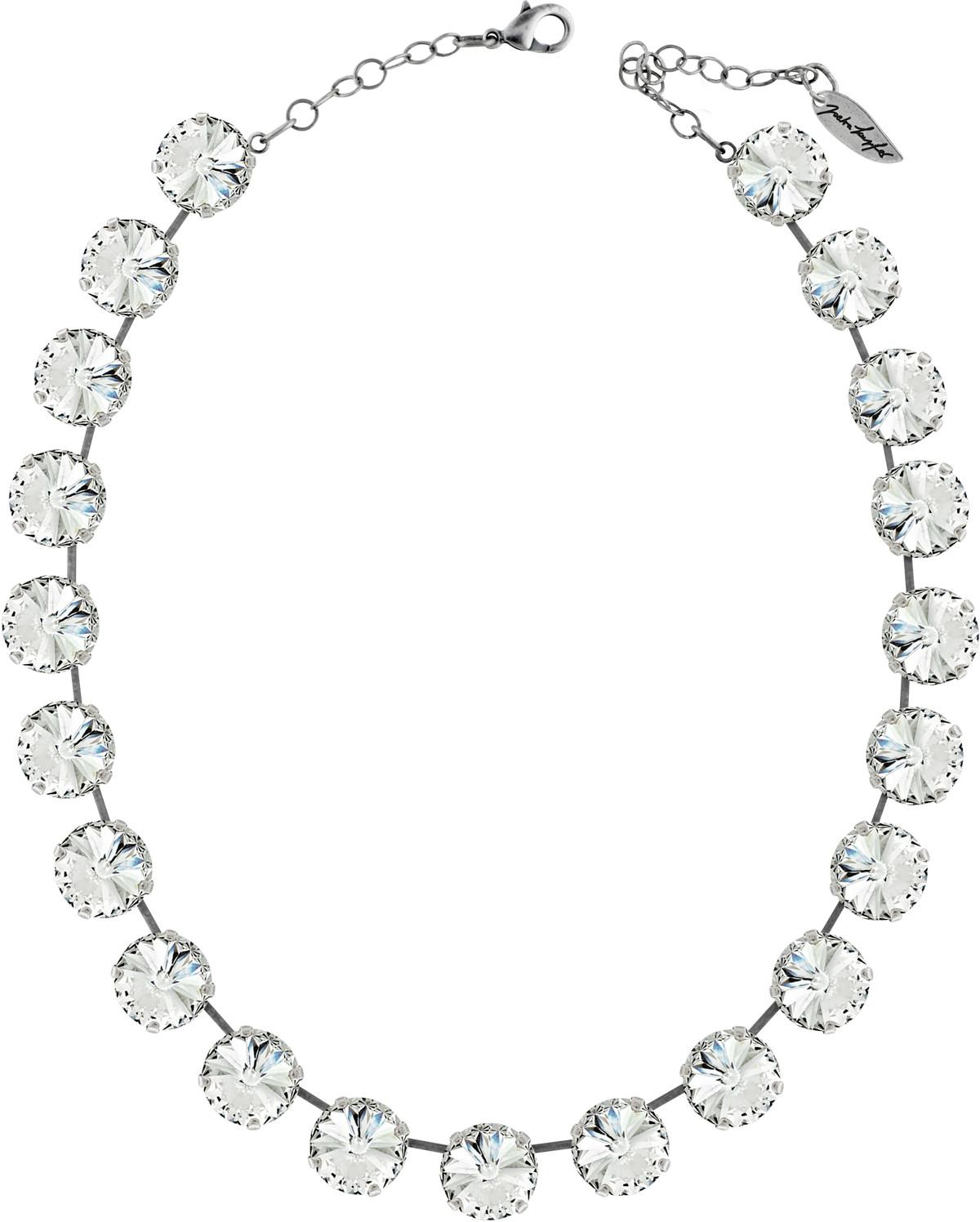 "Necklace ""Rivoli 14.0mm"" Crystal, with original Swarovski Elements Crystals"