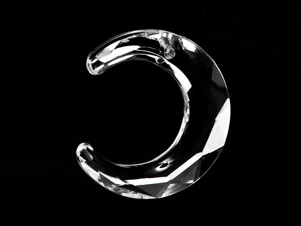 Anhänger aus Acryl / Kunststoff von Star Bright | Mond, 29.0 x 29.0mm, Crystal