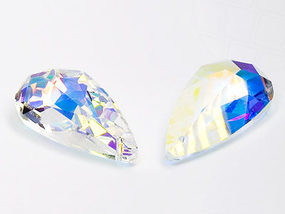 Anhänger von Swarovski Elements  24.0mm x 12.0mm (Crystal-AB), 2 Stück
