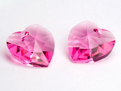 "Pendant of Swarovski Elements ""Heart""  10.3mm x 10.0mm (Rosé)"