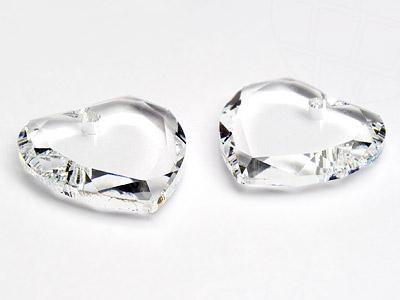 Anhänger von Swarovski Elements `Herz`  10.0mm (Crystal), 6 Stück