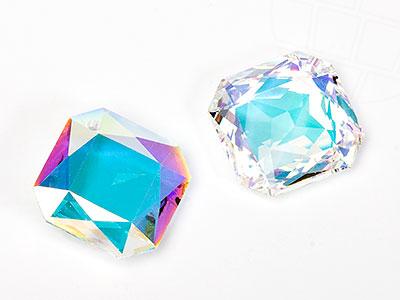 Anhänger von Swarovski Elements 14.0mm (Crystal-AB), 4 Stück