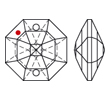 Anhänger von Swarovski Elements (Kronleuchteranhänger / Lüsterkristalle) 26.0mm (Crystal)