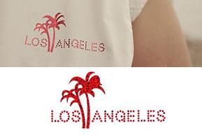 Foil Hotfix Transfer of Unique (Los Angeles)
