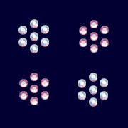 "Rhinestones for body tattoos of Swarovski Elements ""Flower"" (Crystal-AB/Light Rosé)"