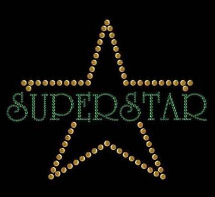 Crystal Rivets Hotfix Transfer of Unique (Superstar)