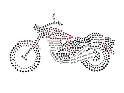 Strass Nieten Bügelbild / Applikation von Unique (Motorrad) bei ...