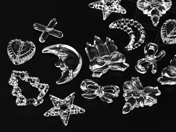 Sew-on Motive in acrylic / plastic of Star Bright | Christmas,  9.0 - 20.0mm, Crystal