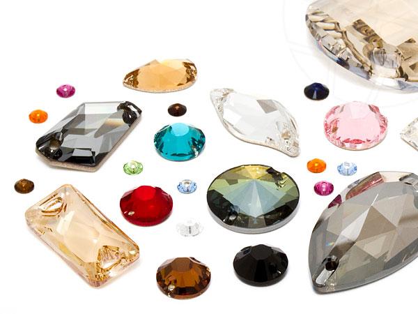 Aufnähkristalle von Swarovski Elements (Multi Form Mix)