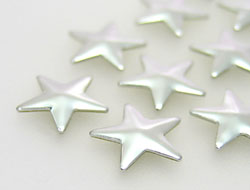 Hotfix Aluminum Rivets of Unique Star 4.6mm (silver), REMAINING STOCK