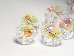Glasperlen zum Auffädeln  6mm (Crystal-AB)