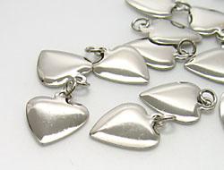 Schmuckanhänger Herz 11x13mm (silver, Second Quality)