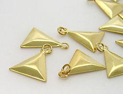 Schmuckanhänger Dreieck 14x16mm (gold)
