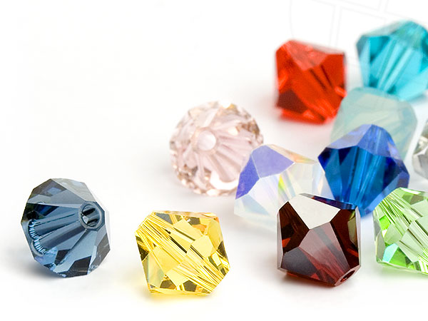 Glass Beads of Swarovski Elements Bicone  4mm   (Colormix, REMAINING STOCK)