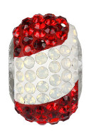 "European Glass Beads of Swarovski Elements ""BeCharmed"" 14mm (Austria flag, Stainless steel)"