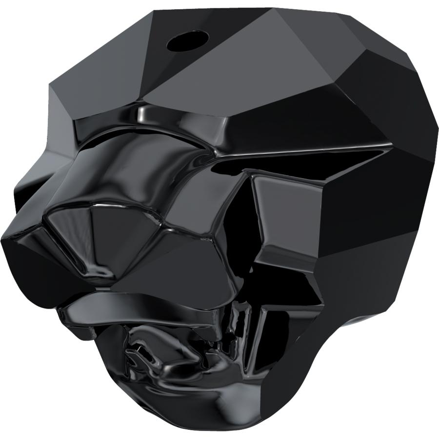 "Glass Beads of Swarovski Elements ""Cougar"" 14.0mm (Jet, REMAINING STOCK)"