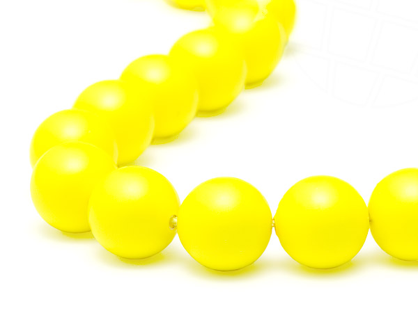 Crystal Beads of Swarovski Elements  6mm  (Crystal Neon Yellow)