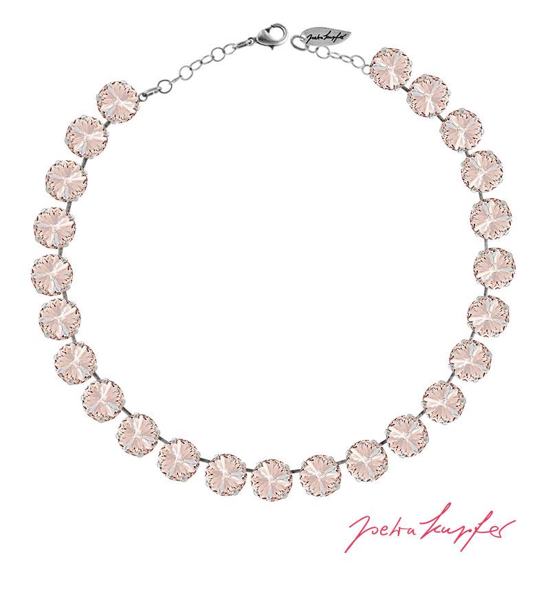 "Necklace ""Rivoli"" Silk, with original Swarovski Elements Crystals"
