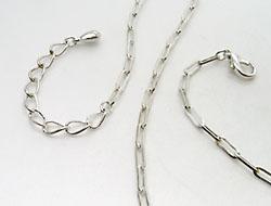 Fashion Jewellry Bauchkette mit Karabinerverschluss 108cm (versilbert)