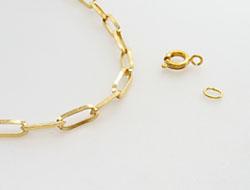 """Halskette """"variabel"""" mit Federringverschluss 50cm, gold"""