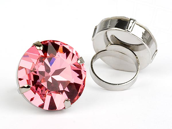 "Strass-Ring ""La Belleza"" with a original Swarovski Elements Crystal (Rose)"