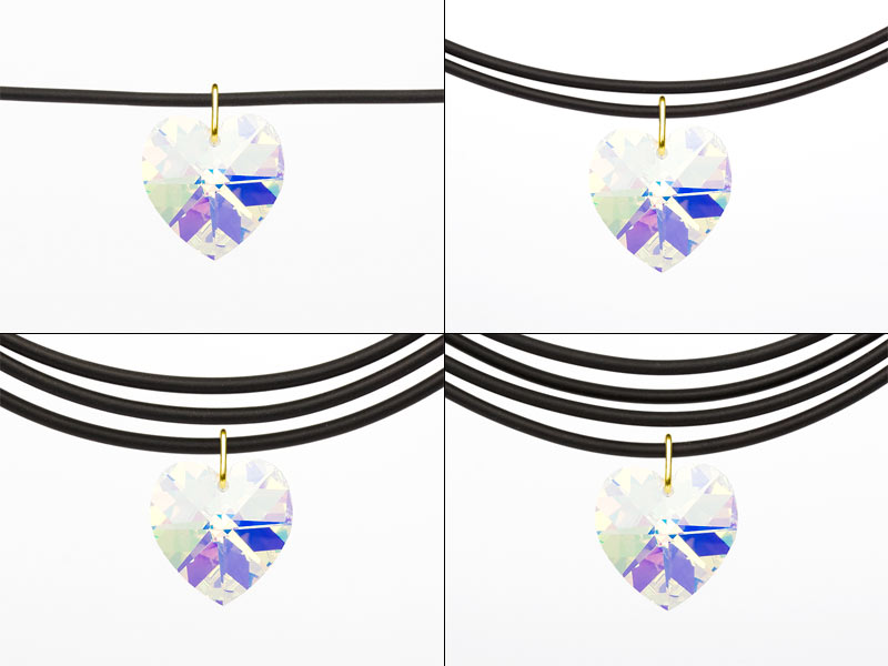 """Necklace Universal with an original Swarovski Elements """"Heart"""" pendant (Crystal-AB)"""