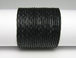 Baumwollschnur in Juwelier Qualität Rund Durchmesser ca 1mm (schwarz)