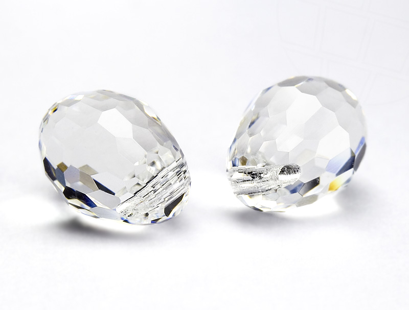 Anhänger von Swarovski Elements `Tropfen` 15.0mm x 11.5mm (Crystal), 4 Stück