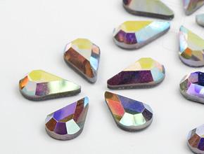 Strasssteine Hotfix von Swarovski Elements Tropfen (Crystal-AB)