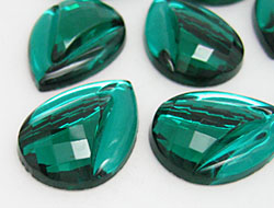 Gemstones | Rhinestones | Drop, 18.0x25.0mm, Emerald