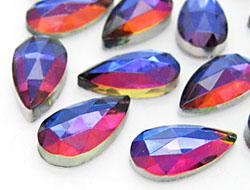 Gemstones | Rhinestones | Drop,  9.0x15.0mm, Crystal-Meridian Blue