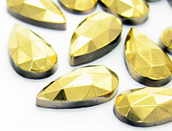 Piedras preciosas del Strass | Piedras | Gota,  9.0x15.0mm, Oro