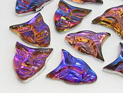 Gemstones | Rhinestones | 22.0x25.0mm, Mask, Crystal-Volcano
