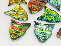 Gemstones | Rhinestones | 22.0x25.0mm, Mask, Volcano Spring Mix