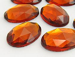 Gemstones | Rhinestones | 18.0x25.0mm, Oval, Topaz