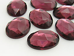 Gemstones | Rhinestones | 15.0x20.0mm, Oval, Amethyst