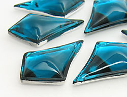 Gemstones | Rhinestones | 20.0x30.0mm, Lozenge, Blue Zircon