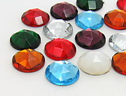 Gemstones | Rhinestones | 15.0mm, Round, Colormix