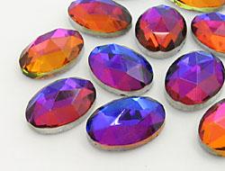 Gemstones | Rhinestones | 10.0x14.0mm, Oval, Crystal-Volcano