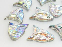 Gemstones | Rhinestones | 22.0x25.0mm, Mask, Crystal-AB
