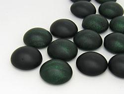 cabochons-glasnuggets-schmucksteine-rund-10-0mm-smoked-emerald-frosted-jet-mix-100-stuck