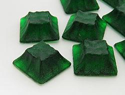 Gemstones | Rhinestones | 31.0x31.0mm, Square, Emerald
