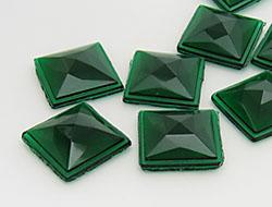 Piedras preciosas del Strass | Piedras | 25.0x25.0mm, Cuadrado, Emerald