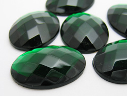 Gemstones | Rhinestones | 24.0x32.0mm, Oval, Emerald