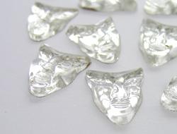 Gemstones | Rhinestones | 12.0x14.0mm, Mask, Crystal
