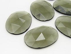 Schmucksteine | Strasssteine | 24.0x32.0mm, Oval, Black Diamond