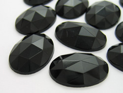 Gemstones | Rhinestones | 18.0x25.0mm, Oval, Jet