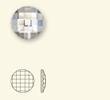 "Rhinestones No-Hotfix of Swarovski Elements ""Chessboard"" 20.0mm (Black Diamond), REMAINING STOCK"