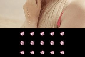 Selbstklebende Strasstattoos von gogoritas mit Swarovski Kristallen (Light Rosé)