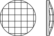 "Rhinestones No-Hotfix of Swarovski Elements ""Chessboard Circle"" 10.0mm (Black Diamond), REMAINING STOCK"